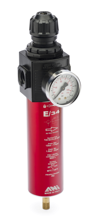 E/34 : AIR FILTER REGULATOR UNIT FOR SPRAY BOOTHS