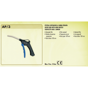 AP/3 : BLOW GUN WITH EXTENDED BENT NOZZLE